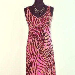 CAbi animal print maxi dress
